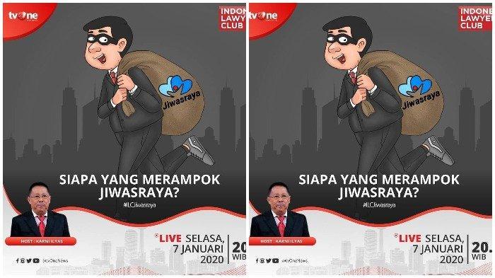 LIVE Streaming TVOne Indonesia Lawyers Club/ILC Malam Ini, Tema: Siapa yang Merampok Jiwasraya