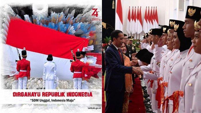 Daftar Nama Tim Pengibar Bendera dan Komandan Paskibraka HUT RI ke-74 di Istana Merdeka, Siapa Saja?