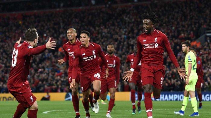 Liverpool tumbangkan Barcelona 4-0