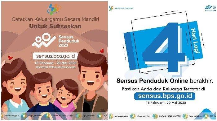 Login di sensus.bps.go.id, Isi Sensus Penduduk Online 2020, Siapkan KTP dan KK, Cuma 5 Menit