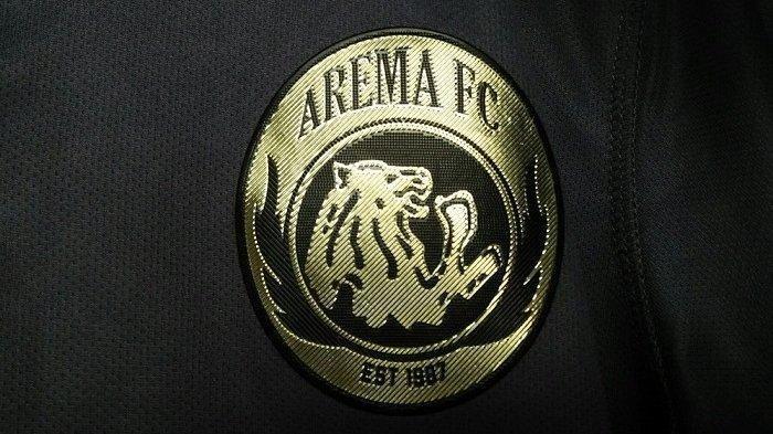 Logo Arema FC di jersey ketiga musim 2020.