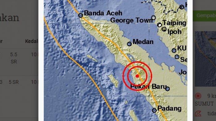 Gempa Padang Sidempuan Akibat Aktivitas Zona Sesar