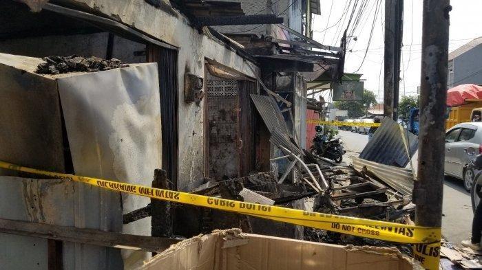 Lokasi kejadian kebakaran yang menewaskan satu orang saat mati lampu kemarin di Jalan KH. Mansyur, Kelurahan Gondrong Udik, RT 02/05, Kecamatan Cipondoh, Kota Tangerang, Senin (5/8/2019).