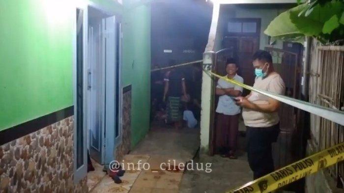 Lokasi penembakan seorang pemuka agama di Kecamatan Pinang, Tangerang, Sabtu (18/9/2021).
