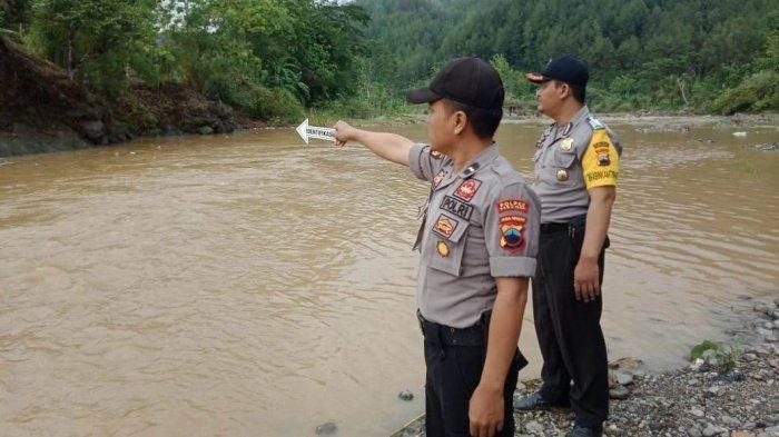 Lokasi tenggelamnya pelajar MTs Ma'arif Kecamatan Sadang Kabupaten Kebumen Jawa Tengah, di Sungai Luk Ula masuk Desa Wonosari Sadang.