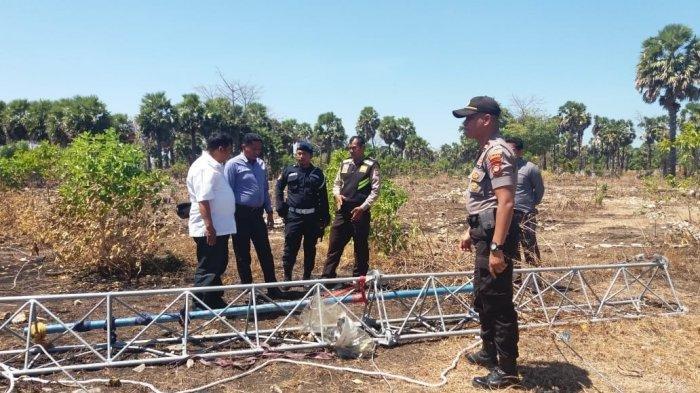 Personel Polres Jeneponto mendatangi lokasi kejadian di Desa Punagaya, Kecamatan Bangkala, Jeneponto.
