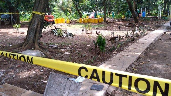 Lokasi zat radioaktif Cs 137 di perumahan Batan Indah Tangerang Selatan, Minggu (16/2/2020).