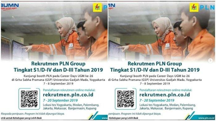 Simak 7 Lokasi Tes Rekrutmen PT PLN (Persero) Tahun 2019, Pendidikan Diploma hingga Sarjana