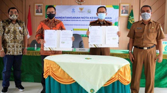 Teken MoU dengan Kejari Kota Sukabumi, LPDB-KUMKM Optimis Dorong Pemulihan Ekonomi