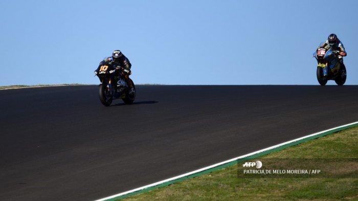 HASIL Moto2 Portugal 2020: Bastianini Juara Dunia Moto2 2020, Gardner Tercepat, Adik Rossi Kedua