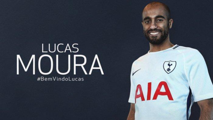 Lucas Moura resmi diperkenalkan sebagai pemain baru Tottenham Hotspur pada Rabu (31/1/2018). DOK TOTTENHAM HOTSPUR