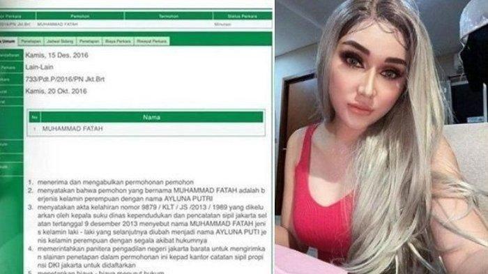 Terungkap, pada 4 Januari 2017 yang lalu, publik figur Lucinta Luna mencabut permohonan perubahan nama dan identitas gender di KTP. Namun permohonan itu dicabut kembali sebelum disidang.