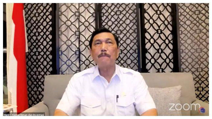 Luhut Binsar Pandjaitan Kabarkan PPKM Leveling Bali Turun Jadi Level 3 (Tangkap Layar Youtube Kemenko Kemaritiman dan Investasi RI) Senin (13/9/2021)