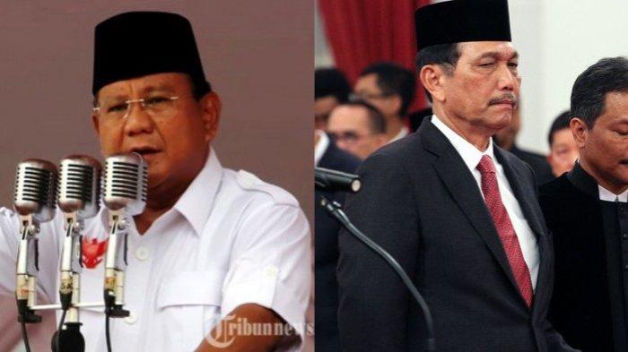 Bertemu Luhut Binsar Panjaitan, Prabowo Subianto: Saya Minta Saran terkait Pertahanan