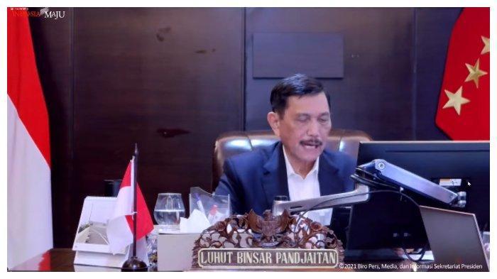 Luhut Panjaitan dalam Konpers PPKM 11 Oktober 2021.