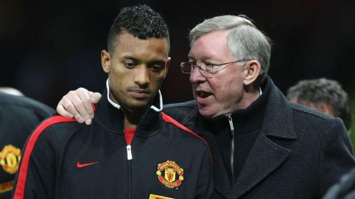Luis Nani dan Sir Alex Ferguson