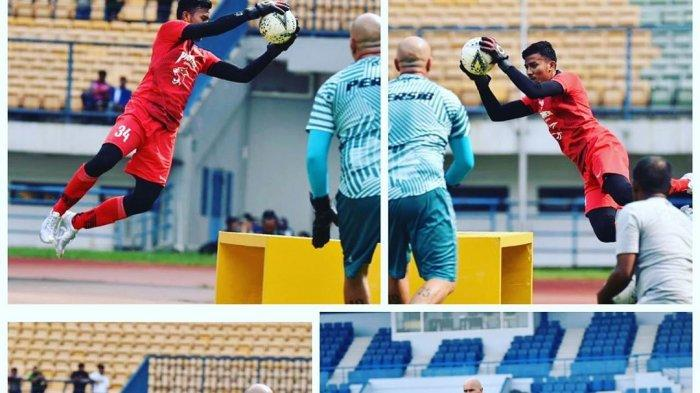 Luizinho Passos (pelatih kiper Persib Bandung) melatih Teja Paku Alam