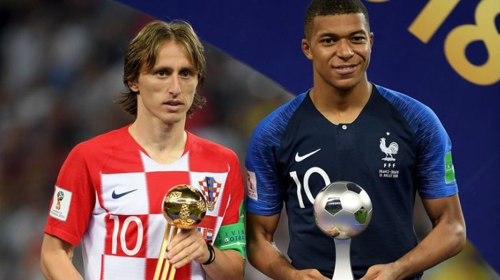 Penghargaan Piala Dunia 2018: Luka Modric Menangkan Golden Ball, Mbappe Jadi Pemain Muda Terbaik