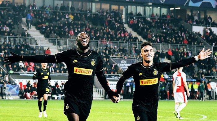 Lukaku dan Martinez merayakan gol bersama (@Inter)