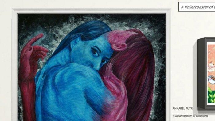 Annabel Pamer Lukisan ''A Rollercoaster Of Emotion'', Saleh Husin Komentar Begini