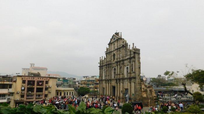 Kisah Sepenggal Tembok Gereja St Paul di Macao Kokoh Berdiri Setelah Disambar Petir