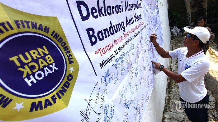 Masyarakat Anti Fitnah Indonesia (Mafindo) menggelar Deklarasi.