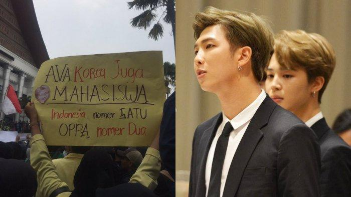 Aksi Demo Mahasiswa 'Diramaikan' Idol K-Pop, DPR LIVE hingga BTS