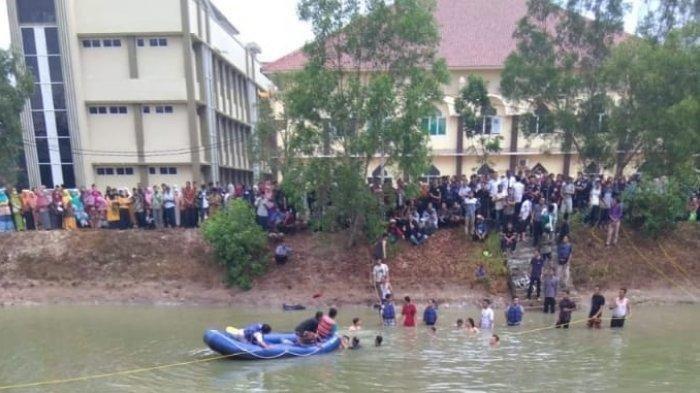 Iqbal dan Azrul, mahasiswa program studi Matematika Tarbiyah UIN Raden Intan Lampung tewas tenggelam di embung kampus UIN.