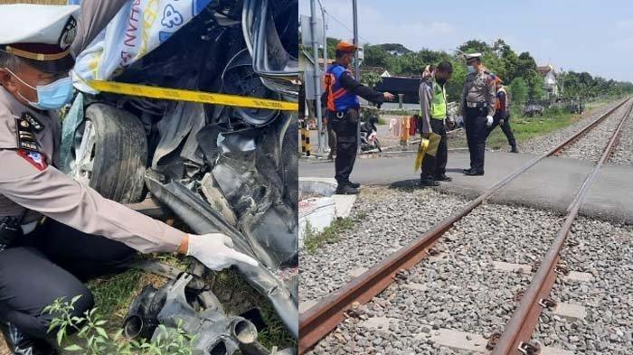 Mahasiswi 22 Tahun Tewas, Mobil yang Dikendarai Tertabarak Kereta, Sempat Terseret Puluhan Meter
