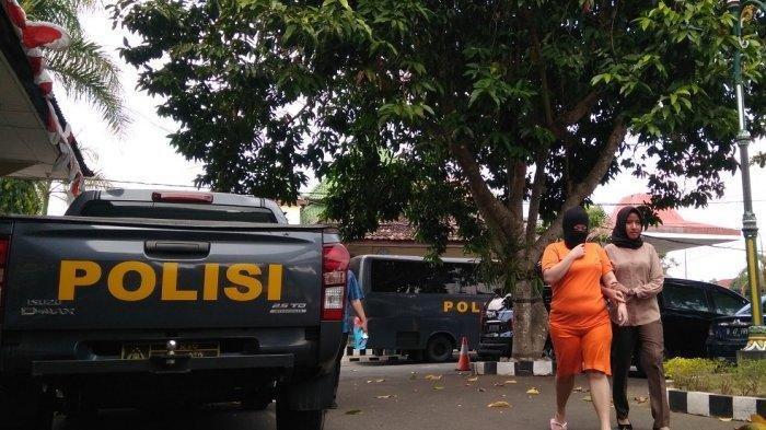Satreskrim Polres Sleman menangkap seorang mahasiswi yang juga berprofesi jadi muncikari. TRIBUNJOGJA.COM/Santo Ari
