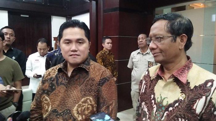 Curhat Erick Thohir ke Mahfud MD, Mulai Diserang karena Bongkar Kasus Korupsi Jiwasraya & Asabri
