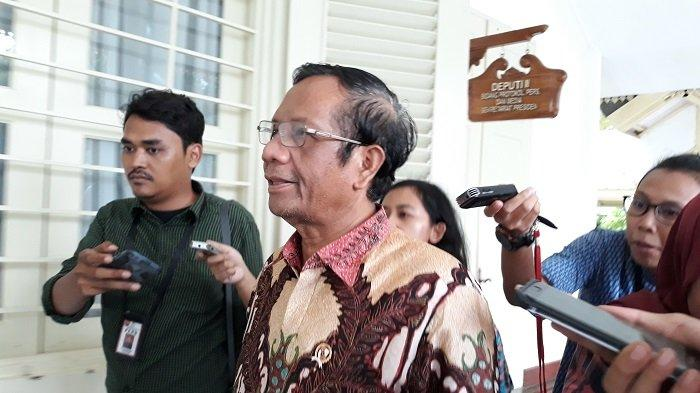 Menkopolhukam Mahfud MD di Kompleks Istana Kepresidenan Jakarta, Rabu (11/12/2019)