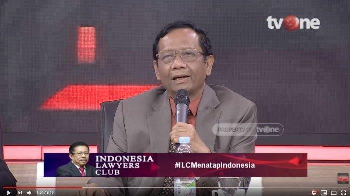 Di ILC, Mahfud MD Singgung Kampanye Pilkada DKI, Bandingkan Pendukung Ahok dengan Anies Baswedan