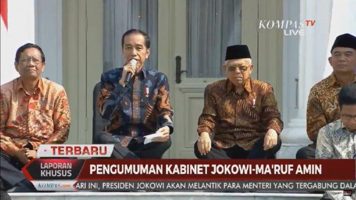 Sambil Lesehan di Lantai, Presiden Jokowi Beri 7 Pesan Ini pada Menterinya: Jangan Monoton