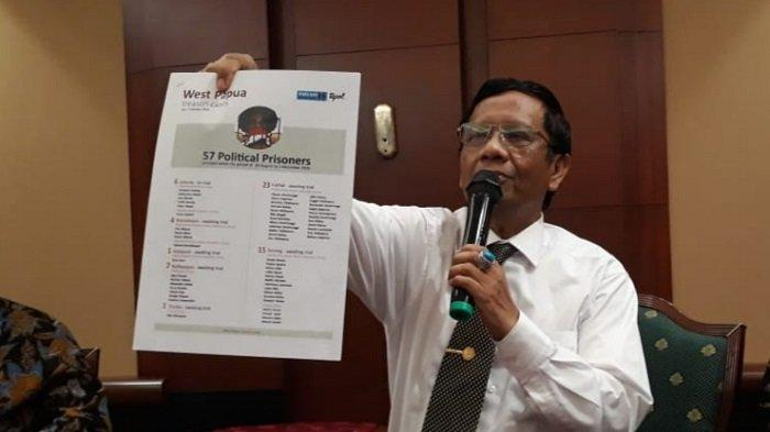 Mahfud MD Sebut Daftar Nama Tapol Papua dari BEM UI Tidak Jelas