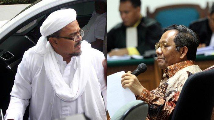 Beda Cerita soal Isu Pencekalan antara Rizieq Shihab dan Mahfud MD, Begini Pengakuan Pimpinan FPI