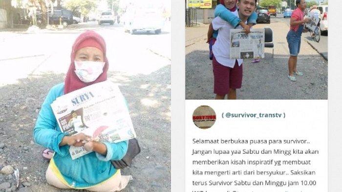 Janda Tak Punya Kaki Hidupi Anak Dengan Berjualan Koran Sedih Lihatnya Tribunnews Com Mobile