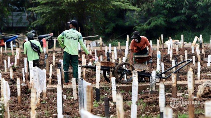 Kasus Positif Melonjak, Jumlah Pemakaman Jenazah Covid di TPU Jombang Tangsel Juga Naik Hingga 100%