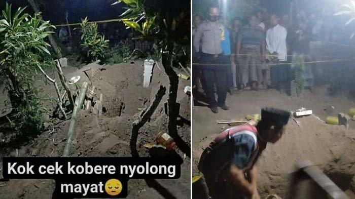 Makam Wanita Usia Sehari Ini Dibongkar Pakai Piring, Warga Terkejut Lihat Kain Kafannya Hilang