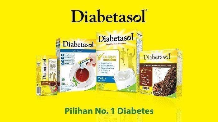 Diabetasol, asupan nutrisi makanan pengganti pilihan no. 1 bagi diabetes.