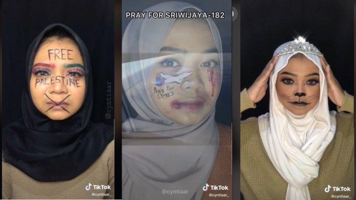 Viral Video Gadis Ekpresikan Bencana yang Terjadi Lewat Make Up: Sudah Belajar Make Up sejak SMK
