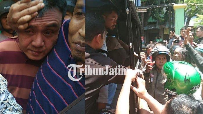 Maling motor saat dibawa ke Polsek Wonokromo untuk dimintai keterangan. TRIBUNJATIM.COM/LUHUR PAMBUDI