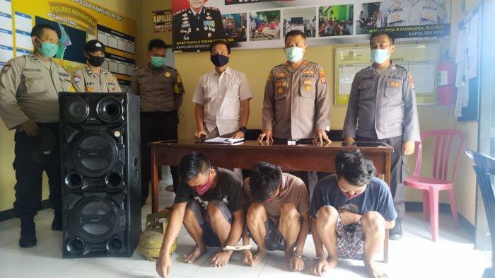 Polisi Ringkus Tiga Maling yang Beraksi di Warung Tuak