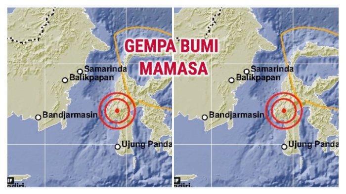 Gempa Hari Ini - 7 Kali Gempa Goyang Sejumlah Wilayah Indonesia Termasuk Mamasa