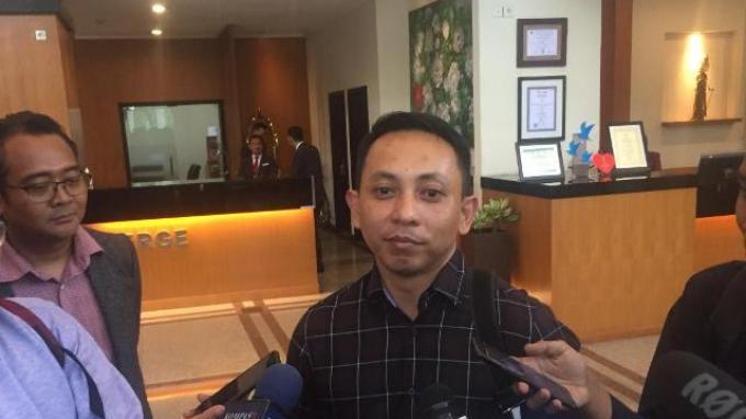 Manajer Bhayangkara FC, AKBP I Nyoman Yogi Hermawan saat ditemui sebelum acara managers meeting Liga 1 2020 di Hotel Century Atlet, Jakarta, Rabu (19/2/2020).