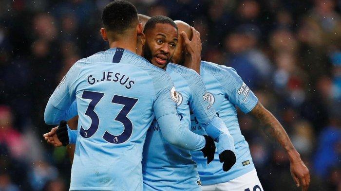 Hasil Akhir West Ham vs Man City Liga Inggris, Sterling Cetak Hattrick, City Menang Telak Lima Gol