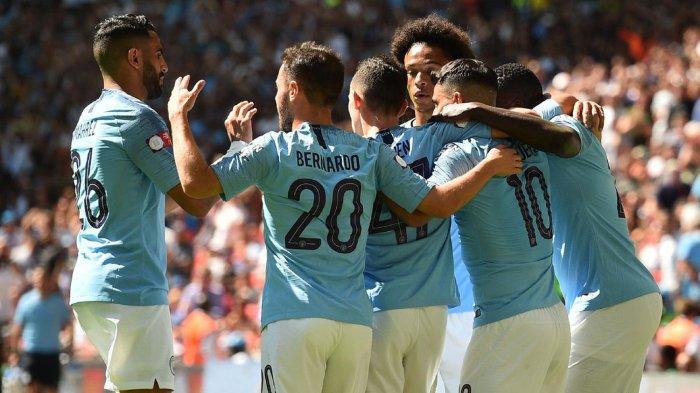 Hasil Babak Pertama Liga inggris: Man City vs Leicester, Mahrez Cetak Gol, The Citizens Unggul 2-1