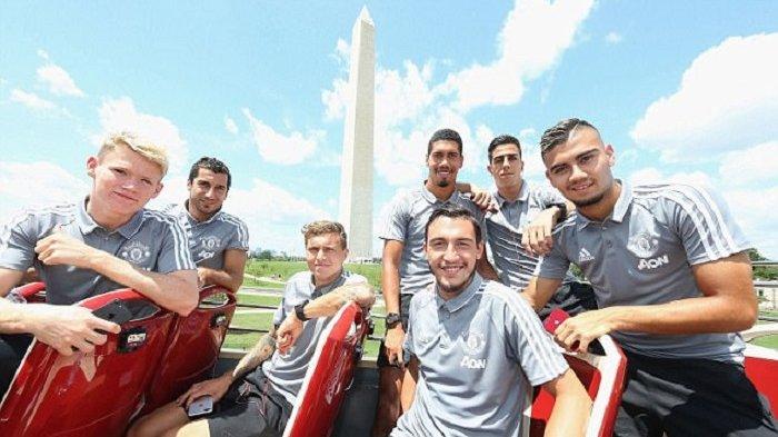 Pemain Manchester United ikut tur keliling Washington DC, Amerika Serikat