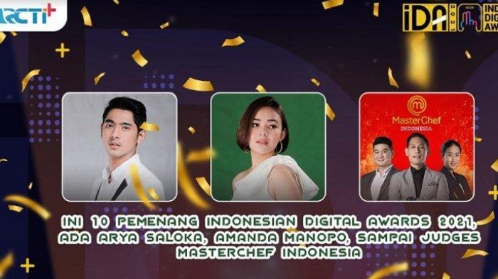 Arya Saloka, Amanda Manopo, dan Juri Masterchef Bawa Pulang Trofi Indonesian Digital Awards 2021