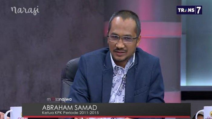 Mantan Ketua KPK Abraham Samad dalam acara Mata Najwa